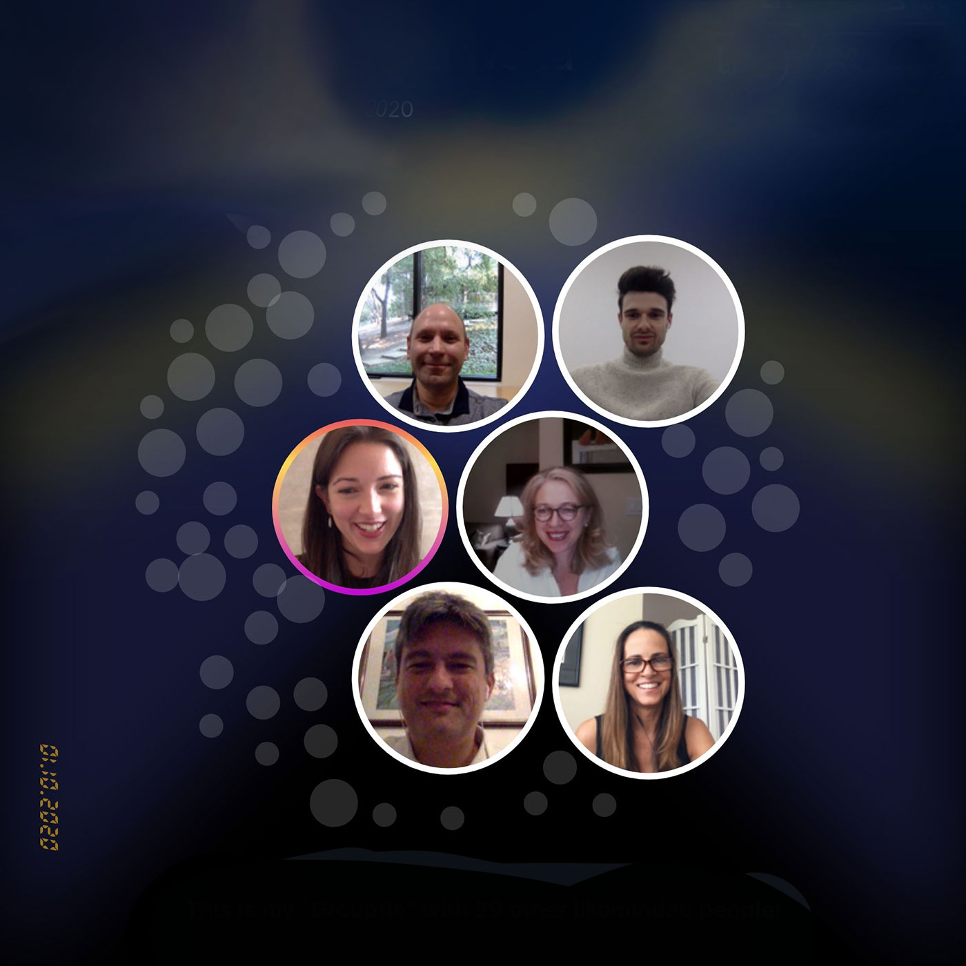 Image with photos of participants in the online panel discussion